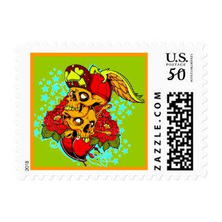 2 thug skulls Stamp