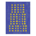 #2 Times Table Collectible Postcard