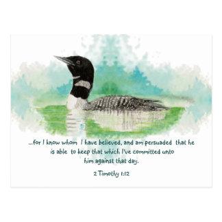 2 Timothy 1:12 Christian Encouragement Scripture Postcard