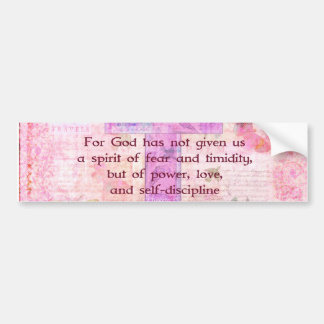 2 Timothy 1:7  Biblical quote scripture Bumper Sticker