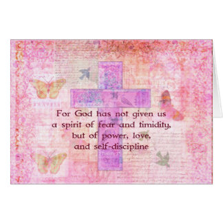 2 Timothy 1:7  Biblical quote scripture Card