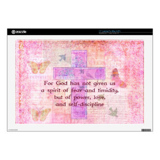 2 Timothy 1:7  Biblical quote scripture Decals For Laptops