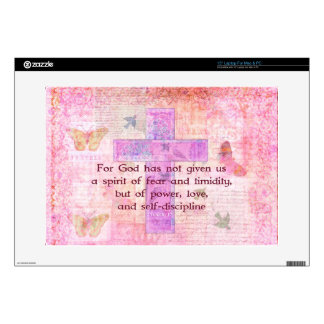 "2 Timothy 1:7  Biblical quote scripture Skins For 15"" Laptops"