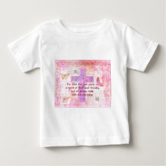 2 Timothy 1:7  Biblical quote scripture Infant T-shirt