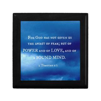 2 Timothy 1:7 For God has not given.... Keepsake Box