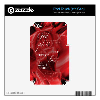 2 Timothy 1:7 Skin For iPod Touch 4G