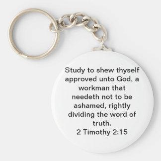 2 Timothy 2:15 Basic Round Button Keychain