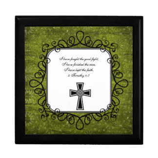 2 Timothy 4:7 Bible Verse Keepsake Box