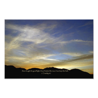 2 Timothy 4:7  I have fought the good fight. Photo Print