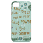 2 Timothy 5:7 Scripture art hand lettered iPhone 5 Case