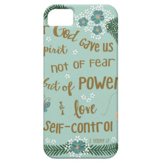 2 Timothy 5:7 Scripture art hand lettered iPhone SE/5/5s Case