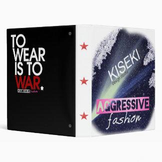 "2-tone Aggressive Fashion feat. ""Wear is War"" 3 Ring Binders"