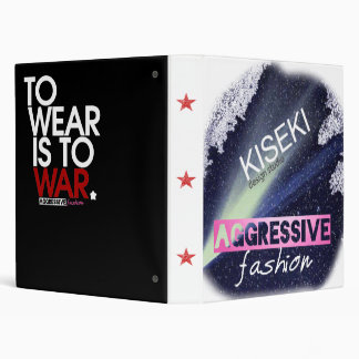 "2-tone Aggressive Fashion feat. ""Wear is War"" 3 Ring Binders"