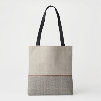 2 tone beige gray tote bag