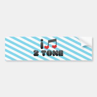 2 Tone fan Bumper Stickers