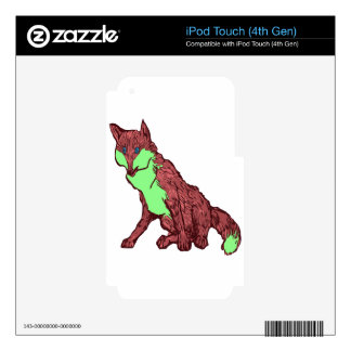2 Tone FOX iPod Touch 4G Skins
