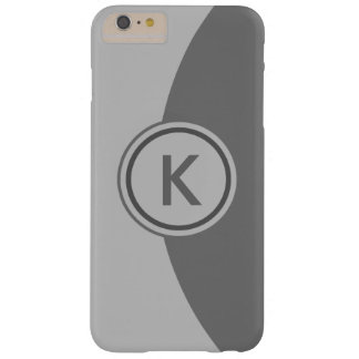 2 Tone Grey Monogram Barely There iPhone 6 Plus Case