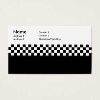 2-Tone Ska Checks Business Card