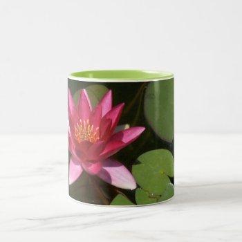 "2 Toned Mug  "" Pink Lotus Blossom"" Two-tone Coffee Mug by whatawonderfulworld at Zazzle"