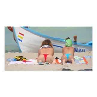 2 topless Girls RK the beach - Vama Veche Romania Card