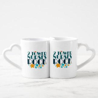 2 Tower Nurses Rock Couples' Coffee Mug Set