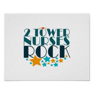 2 Tower Nurses Rock Poster