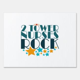 2 Tower Nurses Rock Sign
