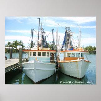 2 trawlers, ©2010BLHeathcote-Shelly Print