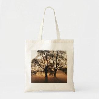 2 TREES SEPIA GOLD ORANGE CANVAS BAG