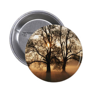 2 TREES SEPIA GOLD ORANGE BUTTON