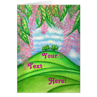 2 Trees & the Macadamia Flowers Painting Card
