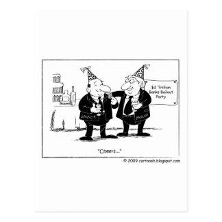 $2 Trillion Bank Bailout Party Postcard
