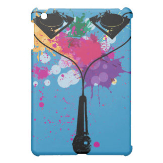 2 turntables and a mic iPad mini covers