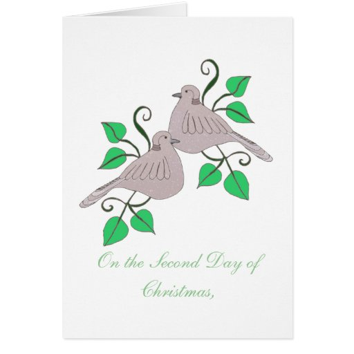 2 Turtle Doves Card