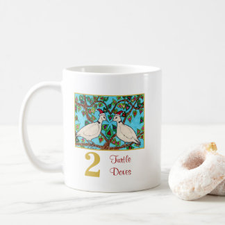 2 Turtle Doves Cute Birds & Typography Love Coffee Mug