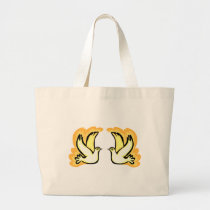 2 Turtle Doves Large Tote Bag