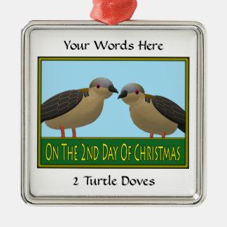 2 Turtle Doves Ornament