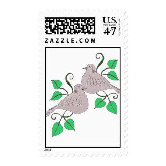 2 Turtle Doves postage stamp