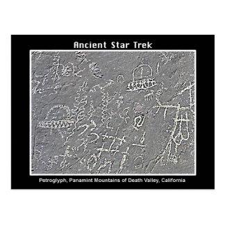 2. UFO Petroglyph at  Death Valley Postcard