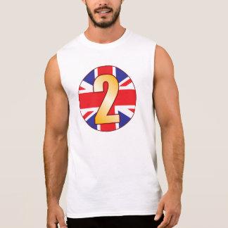 2 UK Gold Sleeveless Shirt
