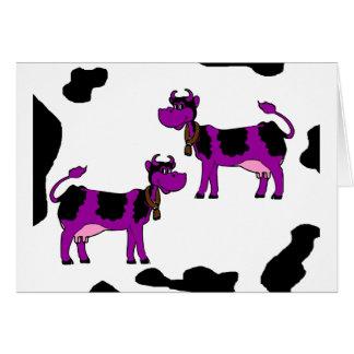 2 vacas púrpuras tarjetón