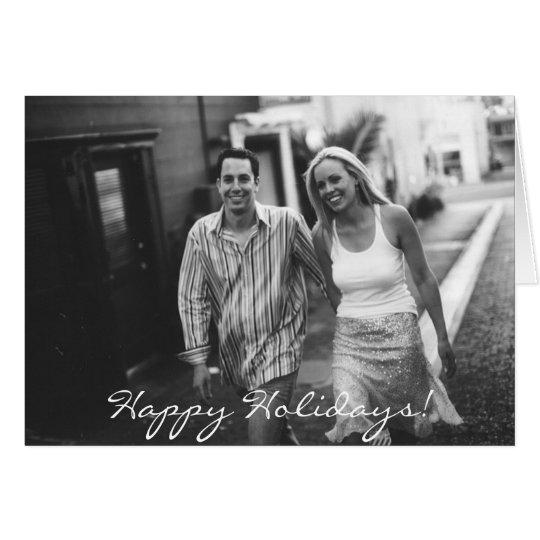 2_Walking, Happy Holidays! Card