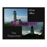 2 Washington Lighthouses! Postcard