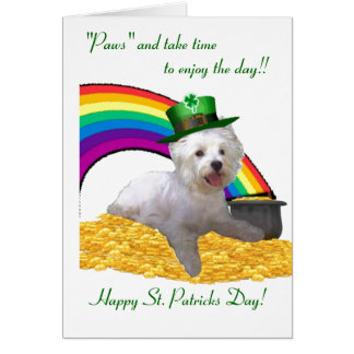 2. Westie St Patricks Card