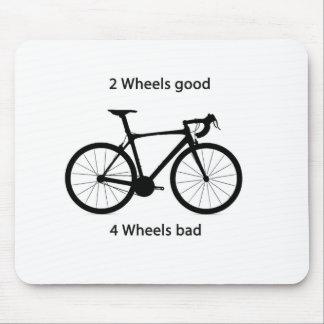 2 wheels good mouse pad