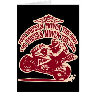 2 Wheels Moves the Soul Greeting Card