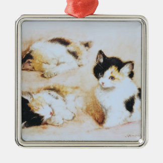 2 where the kitten wakes up metal ornament