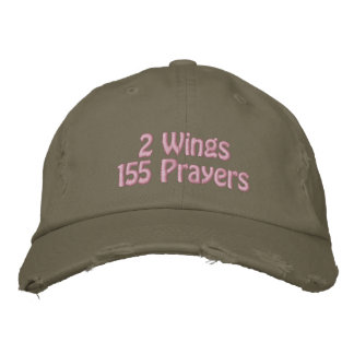 2 Wings, 155 Prayers, US Airways Flight 1549 Embroidered Baseball Hat