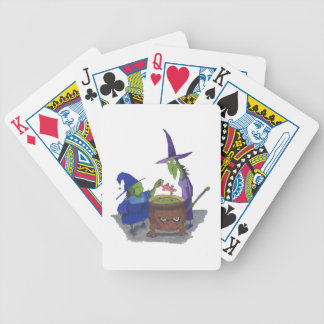 2 Witches brewing up potion in Cauldron Halloween Bicycle Playing Cards