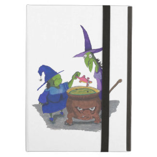 2 Witches brewing up potion in Cauldron Halloween Case For iPad Air